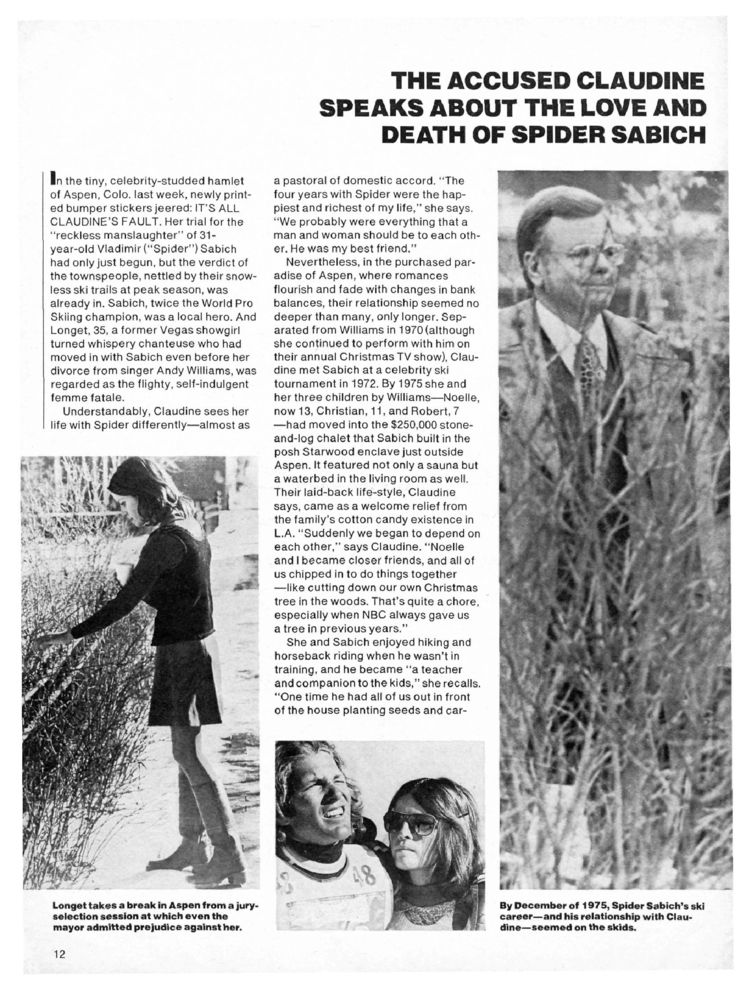 Longet Speaks About the Love and Death of Vladimir 'Spider' Sabich