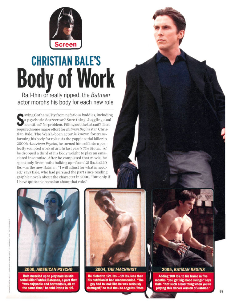 Christian Bale's Body of Work
