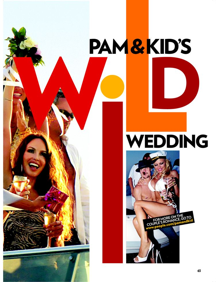 Pam Kid 39s Wild Wedding Weddings Kid Rock Pamela Anderson Peoplecom