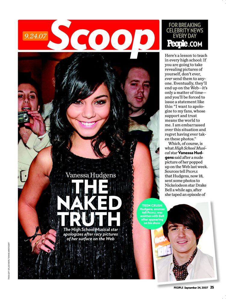 Vanessa Hudgens: THE NAKED TRUTH The High School Musical star apologizes ...