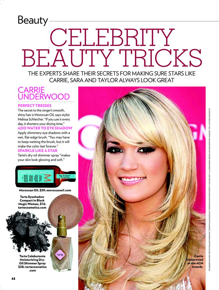 CARRIE UNDERWOOD PERFECT TRESSES The secret to the singer's smooth, ...